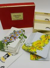 Daisy Playing Cards Congress Double Deck Yellow Blue CelUTone USA Flowers