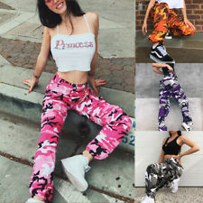 Women Camo Cargo Trousers Cool Pants Ladies Military Army Combat Camouflage*