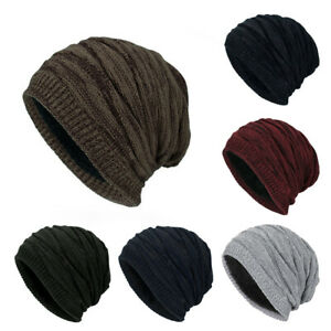 Winter Beanie Warm Unisex Women Men Hat Slouch Baggy Hat Ski Knitted Thick Cap
