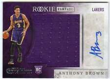 2015-16 Excalibur Rookie Rampage Jumbo Jersey Autograph AUTO RC Anthony Brown