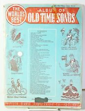 Vtg The Worlds Best Album of Old Time Songs Sheet Music 1940 Alouette Billy Boy