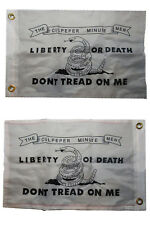 12x18 Culpeper Liberty Death 2 Faced 2-ply Nylon Wind Resistant Flag 12x18 Inch