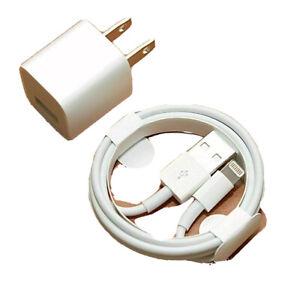 USB Data Charging Cable & Charging Bricks Apple iPhone 5 6 7 8 X 11 12 Plus