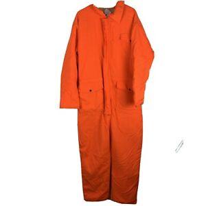 SafTBak Orange Quilted Safety Coveralls Men's XL 46-48 Winter Workwear USA