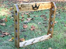 Rustic Wood Golf Club Display Rack for 4 Scotty Cameron Putters & Headcovers