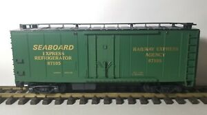 NEW Lionel Seaboard express refeer #8-87105 Boxcar G Scale Made in USA