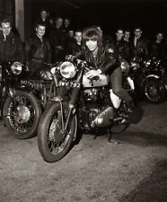 Vintage Motorrad 1962 The Riverhill Riders Verein 20.3x25.4cm Fotodruck