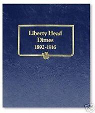 WHITMAN CLASSIC Liberty Barber Head Dimes 1892-1916 Album #9117