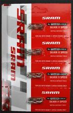 4-Pack SRAM 11-Speed PowerLock Quick Link Silver fits XX1 RED 22 Force 22 Chains