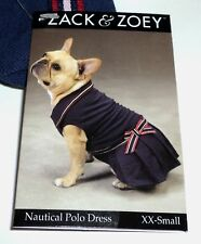 ZACK & ZOEY Dog Nautical Polo Dress XXSMALL NWT