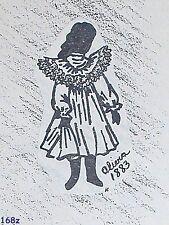 "Vintage FRANKI'S Jumeau French  Bebe Pinafore Dress Pattern Olivia 13"" to 27"""