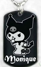 SANRIO KUROMI - Dog tag Necklace/Key chain +FREE ENGRAVING