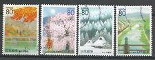 ˳˳ ҉ ˳˳R432-435 Japan Prefectural Four Seasons, Kyoto 2000 complete set scenery
