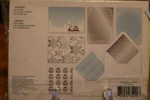 Martha Stewart Christmas Card Kit 20 Cards Lined Envelopes Sealed Brand New