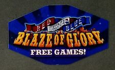 IGT Slot Machine Polygon Topper Insert RED WHITE & BLUE BLAZE OF GLORY