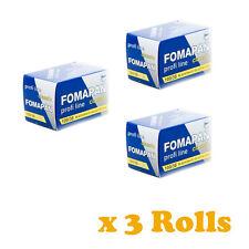 3 Rolls x FOMAPAN 100 Profi Line Classic Black and White Film 35mm 36exp by FOMA