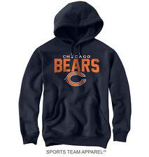 Chicago Bears Navy Blue Jersey Hoodie Sweatshirt