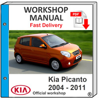 KIA PICANTO 2004 2005 2006 2007 2008 2009 2010 2011 SERVICE REPAIR MANUAL
