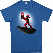 Deadpool T-shirt Spiderman Lion King Spoof Marvel Comics Adult and Kids Sizes Royal 3xl