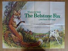 THE BELSTONE FOX  (1973) - original UK quad film/movie poster,animal,fox hunting