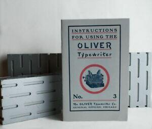 Manual for Oliver No. 3 Typewriter--Faithful Reproduction