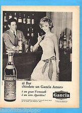 QUATTROR962-PUBBLICITA'/ADVERTISING-1962- GANCIA (ANNAMARIA GAMBINERI)