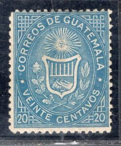 GUATEMALA 1871 STAMP Sc. # 4b MH ERROR COLOR look!!