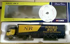 Corgi 75605 Renault Curtainside Nigel Rice Transport Ltd Ed No. 0004 of 2490
