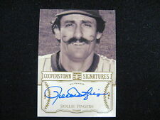 ROLLIE FINGERS AUTO CARD--2013 COOPERSTOWN #'D TO 700