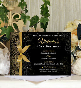 x52 Personalised Birthday Postcard Style Invitation Ages18th 21st 30th 40th etc