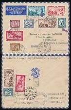 FRENCH INDOCHINA LANGSON 1938 MULTI FRANKING AIR FRANCE ENV...MONTAUBAN MACHINE