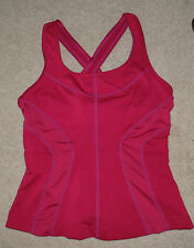 Ativa Pink vented athletic sports bra top criss cross gym yoga exercise Size xs