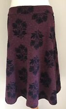 White Stuff women's purple and navy blue viscose blend stretch skirt size 10