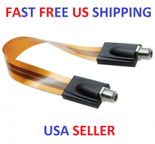 GHOST WIRE RG6 1FT Flat Coaxial Type F Jumper Cable for Windows and Doors