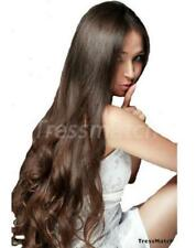 "20""-22"" Dark Brown Real Remy Human Hair Extention Full Head Thick Full Brunette"