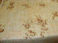"One Yd BRUNSCHWIG FILS Kalaheo Botanica Handprint DRAPERY FABRIC 54"" x 36"" BTY"