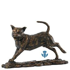 Border Fine Arts Contemporary Classics B1578B Staffy Bronzed Effect