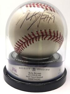 Kris Bryant Signed Autographed OML Baseball JSA Y66974 Auto9 Cubs