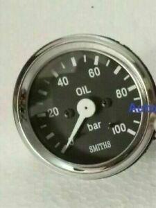 Smith Black Oil Pressure Gauge 0 100 Bar Chrome Bezel