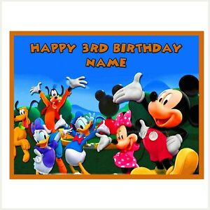 Mickey Mouse Clubhouse Edible Image personalised icing cake topper decoration