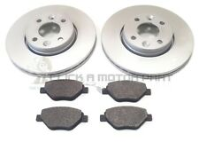 RENAULT MEGANE MK2 1.4 DYNAMIQUE 02-08 FRONT 2 BRAKE DISCS AND PADS (CHECK SIZE)