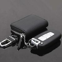 Leather Car Key Chain Ring Keychain Fob Holder Case Purse Wallet Bag Men Women