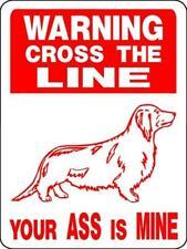 5009 DACHSHUND DOG SIGN VINYL OUTDOOR INDOOR 9 X 12