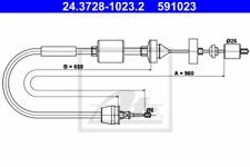 Seilzug, Kupplungsbetätigung für Kupplung ATE 24.3728-1023.2