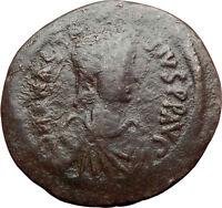 Anastasius 491AD Constantinople Follis Authentic Ancient Byzantine Coin i70425