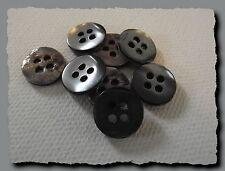 8 BOUTONS  GRIS en NACRE 11 mm  4 trous  button shell mercerie sewing lot grey