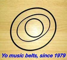 Belt set for AKAI GXC-710D cassette tape deck 3 belts kit riemen courroie пасики