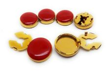 BUTTON COVERS SET GOLD  CUFF ENHANCERS  MANUFACTURERS DIRECT PRICING