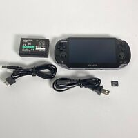 Sony PlayStation PS Vita PCH-1001 Black Handheld System Charger Software 2.12