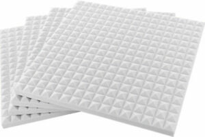 20 pannelli fonoassorbenti 50x50x3cm bianchi trattamento acustico made in italy